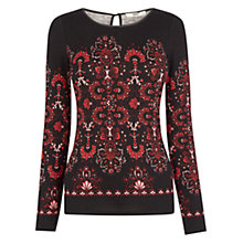 Buy Oasis Artisan Print Top, Multi Online at johnlewis.com