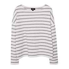 Buy Mango Stripe Sweatshirt, Natural White Online at johnlewis.com