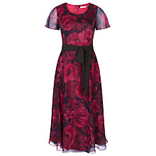 Buy Jacques Vert Cationic Rose Dress, Red Online at johnlewis.com