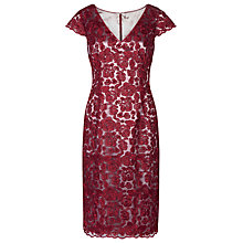 Buy Jacques Vert Lace Shift Dress, Dark Red Online at johnlewis.com
