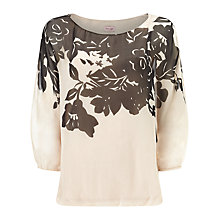 Buy Phase Eight Ashlyn Silk Blouse, Nude/Black Online at johnlewis.com