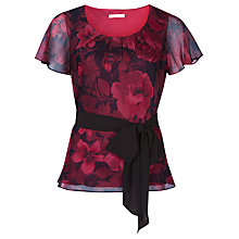 Buy Jacques Vert Cationic Rose Top, Red Online at johnlewis.com