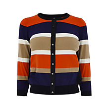 Buy Karen Millen Striped Knitted Cardigan, Multi Online at johnlewis.com