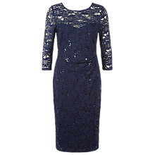 Buy Planet Lace Sequin Dress, Dark Blue Online at johnlewis.com