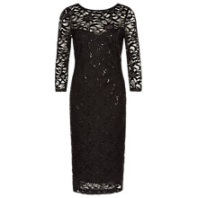 Buy Planet Lace Sequin Dress, Black Online at johnlewis.com