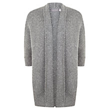 Buy Mint Velvet Metallic Oversized Cardigan, Granite Online at johnlewis.com