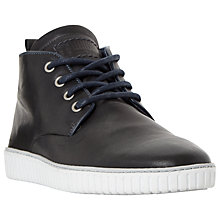 Buy Dune Stoorm Trooper Embossed Chukka Boots, Navy Online at johnlewis.com
