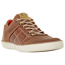 Buy Dune Temper Leather Trainers Online at johnlewis.com
