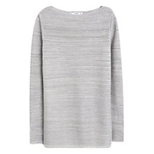 Buy Mango Metallic Detail Jumper, Medium Blue Online at johnlewis.com