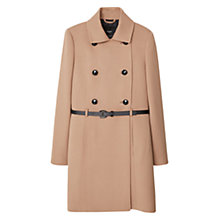 Buy Mango Double Breasted Coat, Medium Brown Online at johnlewis.com