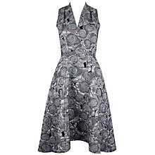 Buy Closet Hi Low V Neck Metallic Dress, Grey Online at johnlewis.com