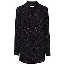 Buy L.K. Bennett Mona Printed Shirt, Black/Cream Online at johnlewis.com