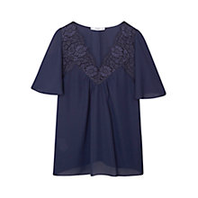 Buy Mango Lace Panel Blouse Online at johnlewis.com