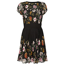 Buy Oasis Opium Pleat Dress, Black Online at johnlewis.com