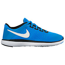 Buy Nike Children's Flex 2016 Running Trainers, Blue/Silver Online at johnlewis.com