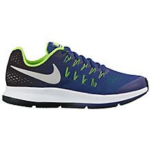 Buy Nike Children's Air Zoom Pegasus 33 Running Shoes, Royal Blue/Multi Online at johnlewis.com