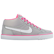 Buy Nike Children's Capri 3 Trainers, Grey/Pink Online at johnlewis.com