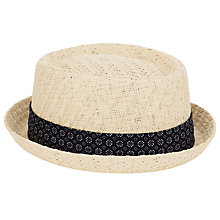 Buy JOHN LEWIS & Co. Basketweave Pork Pie Hat, Natural Online at johnlewis.com
