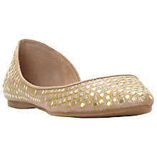 Buy Steve Madden Eligant Embellished Asymmetric Pumps, Gold Online at johnlewis.com