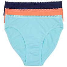 Buy Sloggi 3 Pack Tai Briefs, Multi Online at johnlewis.com