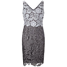 Buy Adrianna Papell Guipure Lace Dress, Silver Online at johnlewis.com