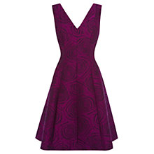 Buy Coast Amberley Floral Dress, Magenta Online at johnlewis.com