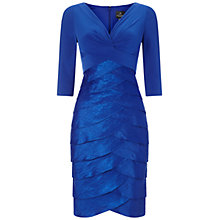 Buy Adrianna Papell Artichoke Dress, Blue Online at johnlewis.com