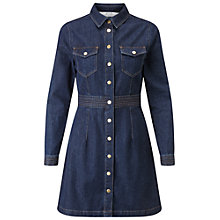 Buy Miss Selfridge Petite Denim Shirt Dress, Mid Blue Online at johnlewis.com