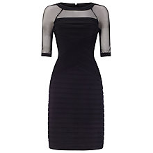 Buy Adrianna Papell Pintuck Banded Dress, Black Online at johnlewis.com
