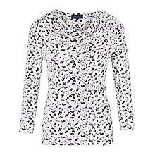 Buy Viyella Tulip Print Top, White/Purple Online at johnlewis.com