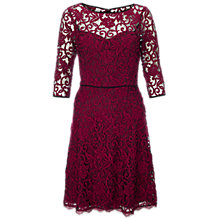 Buy Adrianna Papell Sweetheart Fit Flare Dress, Claret Online at johnlewis.com