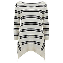 Buy Mint Velvet Stripe Tunic Jumper, Navy/Ivory Online at johnlewis.com