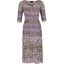 Buy Viyella Print Crinkle Dress, Lilac Online at johnlewis.com