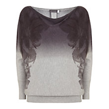 Buy Mint Velvet Nola Batwing Jumper, Grey/Multi Online at johnlewis.com