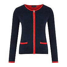 Buy Viyella Double Face Zip Cardigan, Navy Online at johnlewis.com