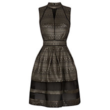 Buy Oasis Aztec Skater Dress, Black/Multi Online at johnlewis.com