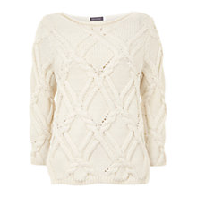 Buy Mint Velvet Cable Knit Jumper, Multi/Cream Online at johnlewis.com