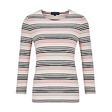 Buy Viyella Fine Stripe Top, Pink Online at johnlewis.com