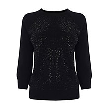 Buy Karen Millen Crystal Encrusted Knit Jumper Online at johnlewis.com