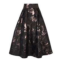 Buy Coast Rochelle Jacquard Skirt, Black Online at johnlewis.com