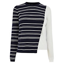 Buy Karen Millen Colour Block Jumper, Blue/Multi Online at johnlewis.com