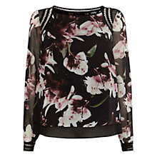 Buy Coast Winter Lily Embroidered Detail Top, Multi Online at johnlewis.com