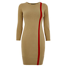 Buy Karen Millen Colour Flash Knit Dress, Camel Online at johnlewis.com