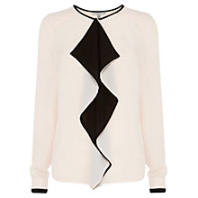 Buy Coast Clarence Ruffle Blouse, Blush Online at johnlewis.com