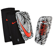 Buy Nike Neymar Mercurial Lite Shin Guards, White/Black/Crimson Online at johnlewis.com