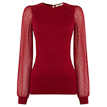 Buy Oasis Dobby Sleeve Jumper Online at johnlewis.com
