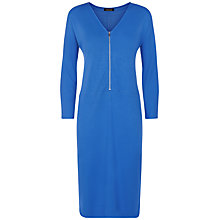 Buy Jaeger Jersey Zip Detail Dress, Bright Blue Online at johnlewis.com