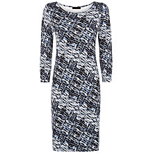 Buy Jaeger Wave Print Jersey Dress, Blue/Multi Online at johnlewis.com
