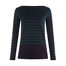 Buy Hobbs Verity Top, Teal/Navy Online at johnlewis.com