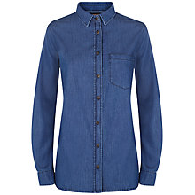Buy Jaeger Denim Shirt, Mid Blue Online at johnlewis.com